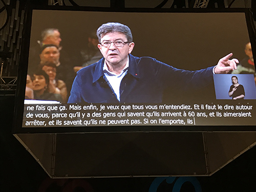 accessibilite meeting melenchon brest