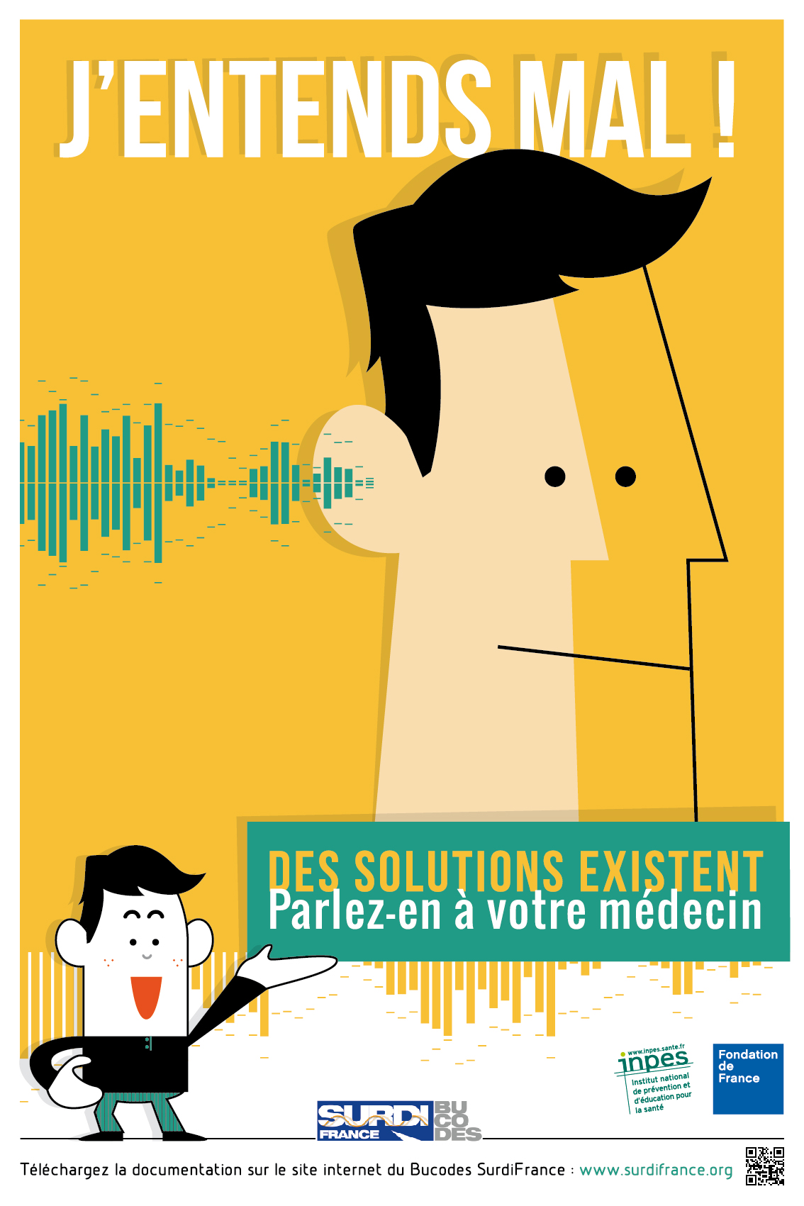 Affiche J'entends mal, quelles solutions